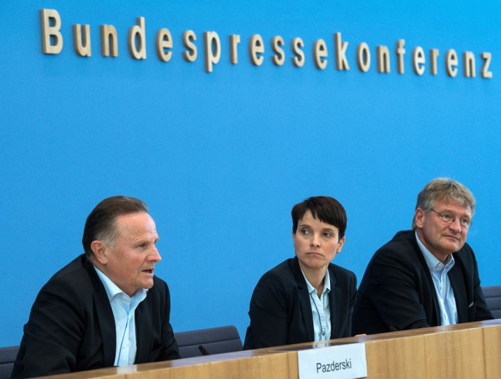 AfD-Politiker Georg Pazderski, Frauke Petry und Jörg Meuthen