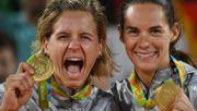 Historisches Gold für deutsches Beachvolleyball-Duo