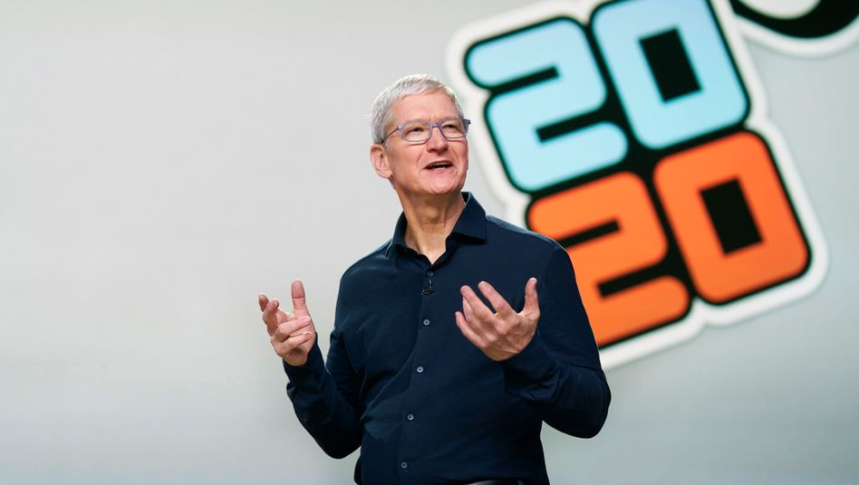 Apple-Chef Tim Cook auf der virtuellen WWDC 2020