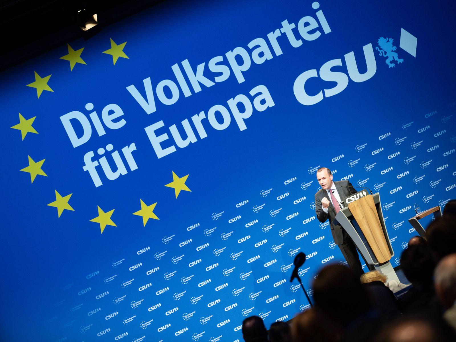 EINMALIGE VERWENDUNG Europa/ CSU/ Manred/ Weber
