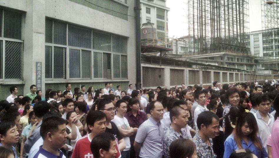 Massenprotest in der Stadt Dongguan: Kampf für bessere Bedingungen