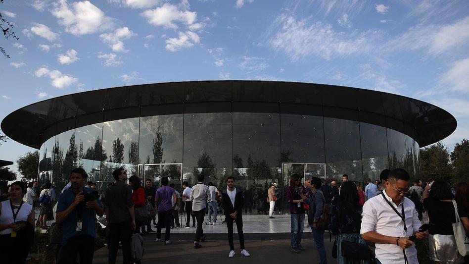 Das Steve Jobs Theatre im Apple Park in Cupertino, Kalifornien (Archivbild)