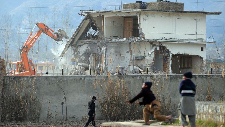 Abriss von Bin Ladens letztem Versteck in Abbottabad, Pakistan (Aufnahme aus 2012)