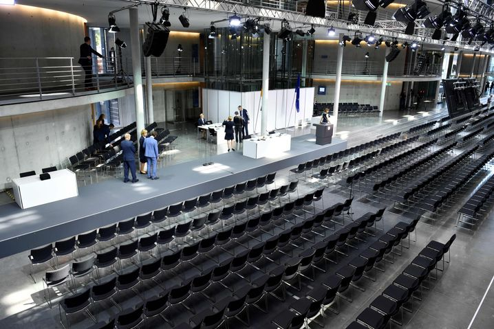Zum Plenarsaal umgebaut: das Paul-Löbe-Haus