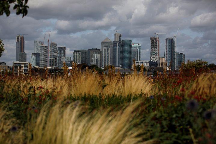 Bankenviertel Canary Wharf in London: Wie finanzstark wird Großbritannien ohne die EU-Mitgliedschaft sein?