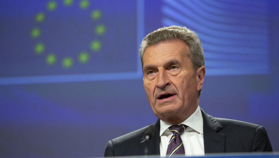 "Haushaltskommissar Günther Oettinger: ""keinen dritten Weg"""