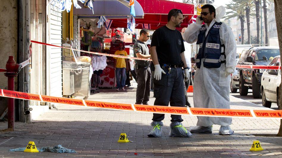 Tatort in Netanja (Symbolbild): In der israelischen Küstenstadt kommt es immer wieder zu Fehden arabischer und jüdischer Mafia-Clans