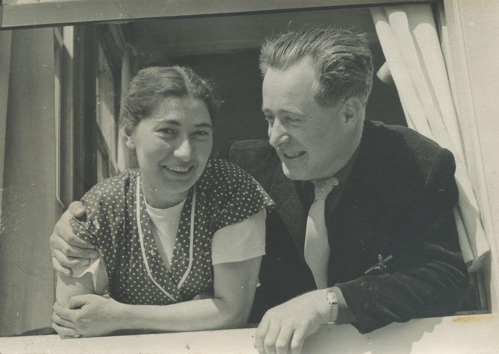 Janny en Bob Brandes, circa 1956