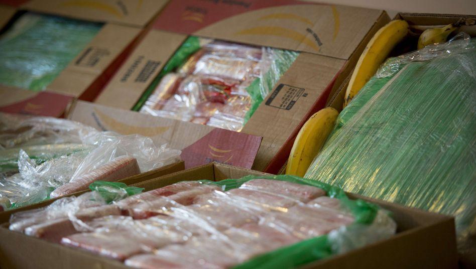 Versteckt in Bananenkisten: Große Mengen Kokain bei Aldi gefunden