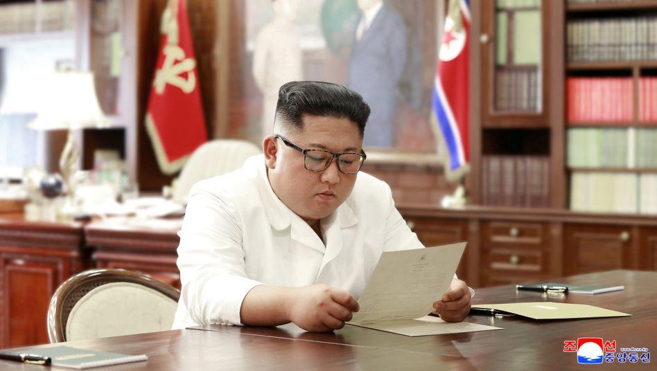 Hat offenbar gute Schreiberlinge: Kim Jong Un