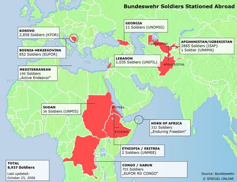Graphic: Bundeswehr soldiers stationed abroad