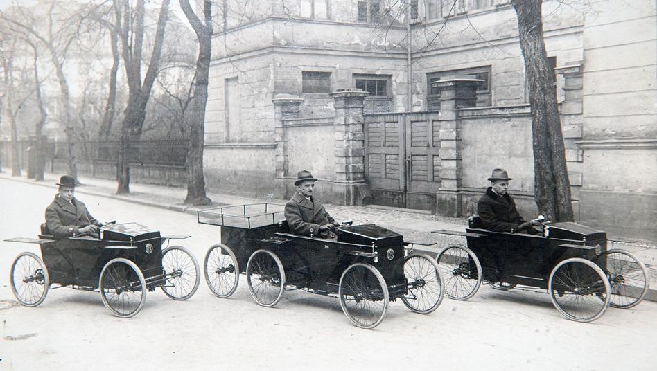 Slaby-Beringer SB-Elektrowagen (undatierte historische Aufnahme)