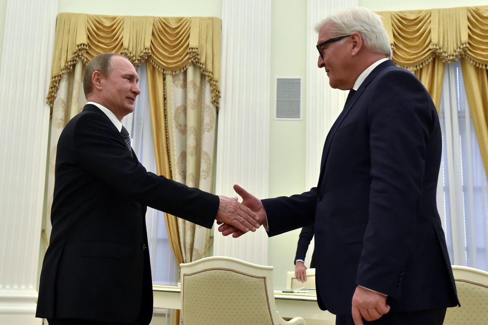 German Foreign Minister Frank-Walter Steinmeier visits