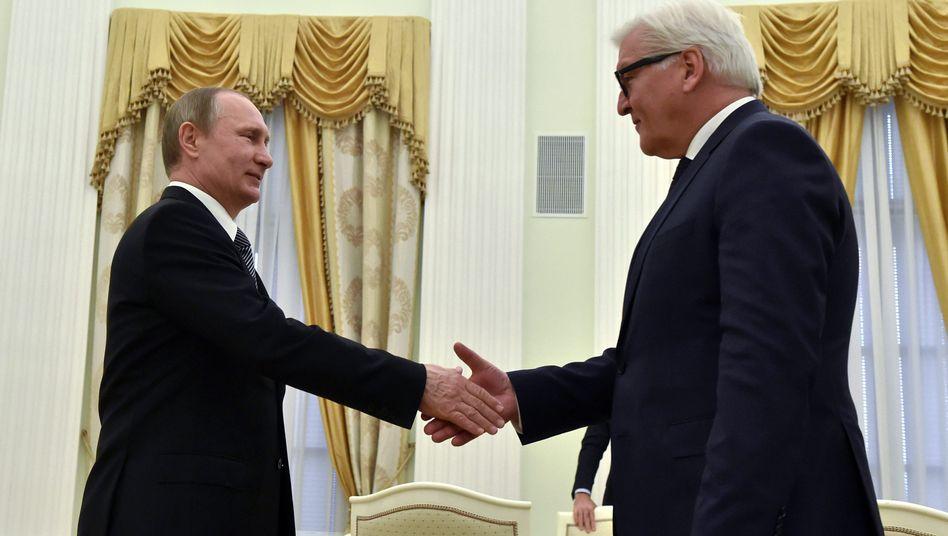 Putin und Steinmeier (März 2016)