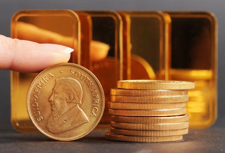 Krügerrandmünze aus Gold: In Südafrika auch offizielles Zahlungsmittel