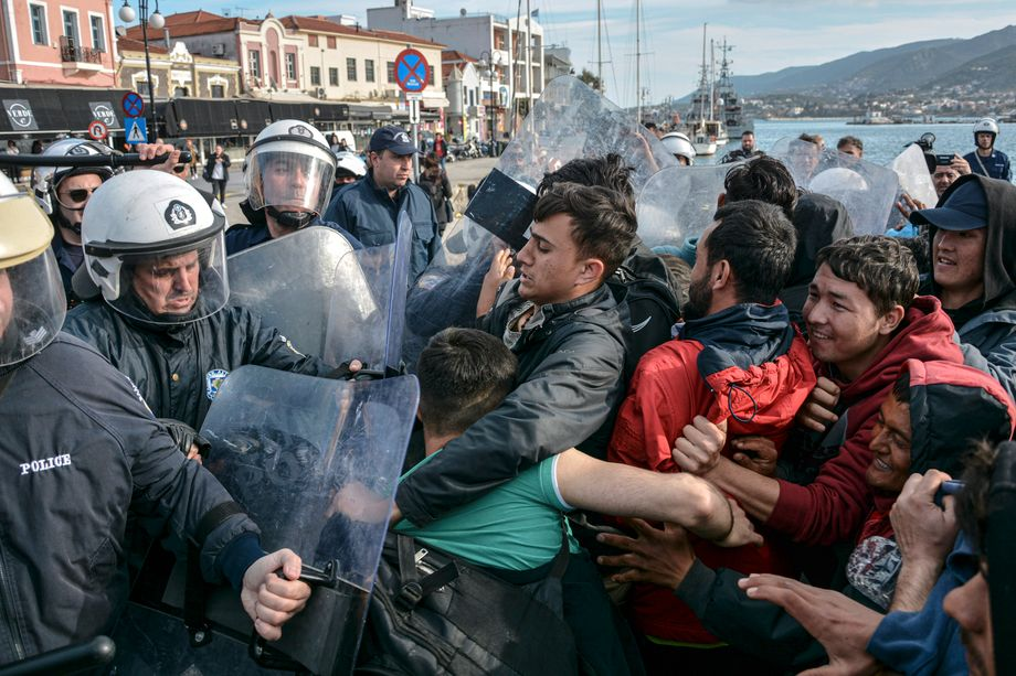 In den vergangenen Wochen eskalierte die Gewalt rund um das Lager auf Lesbos