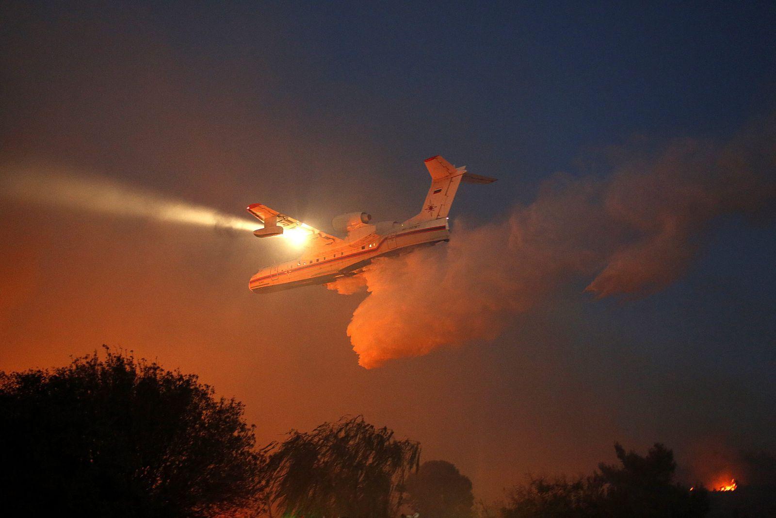 Nataf Großbrände Israel Russisches Flugzeug