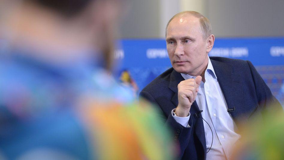 """Wladimir Putin in Sotschi: """"Wir verbieten nichts"""""""