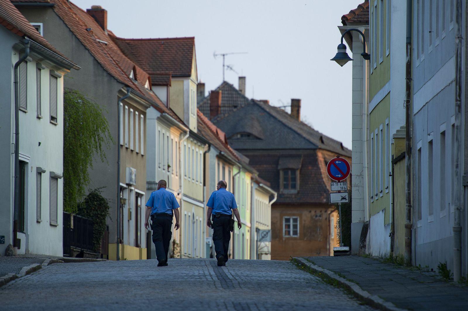 Polizisten in Ostritz