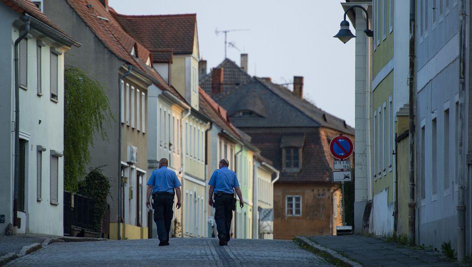 Polizisten im sächsischen Ostritz (Archivbild)