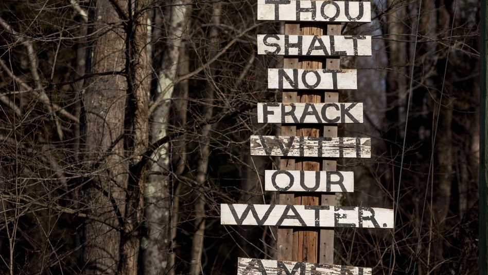 Protest gegen Fracking im US-Bundesstaat New York