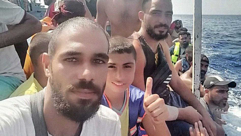 """Mahmud Hajar kurz vor Zypern. Zurück nach Tripoli will er nicht: """"Eher sterbe ich hier"""""""