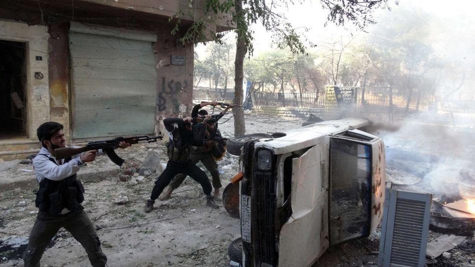 Kämpfer im syrischen Aleppo