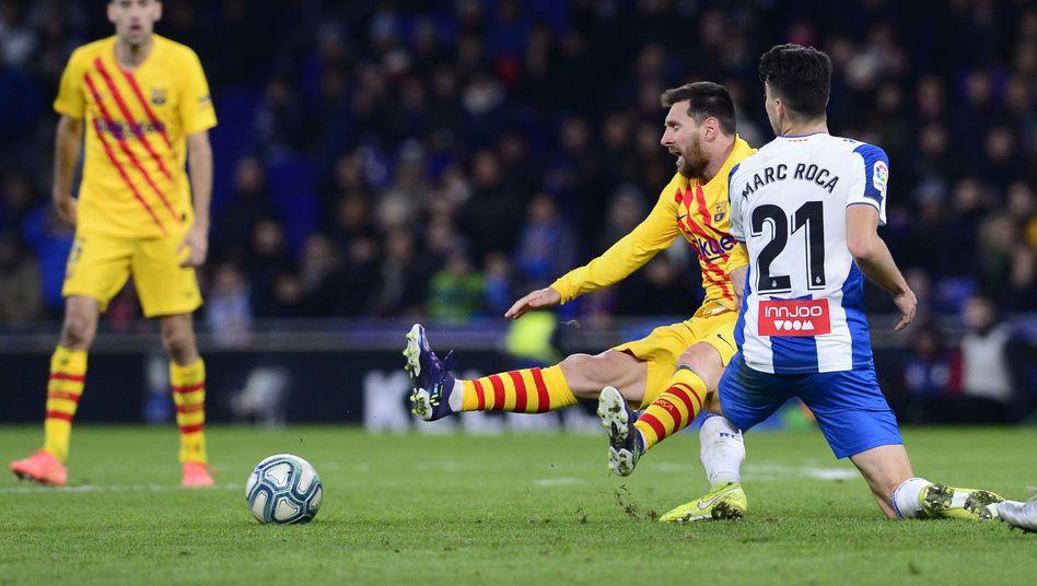 Lionel Messi bekam gegen Espanyol fast keine Räume