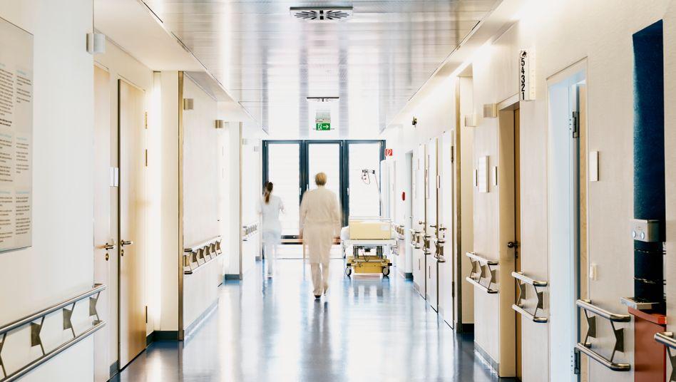 Flur eines Krankenhauses