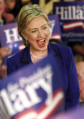 Wahlkämpferin Clinton: Hoffen auf den rechnerischen Vorsprung