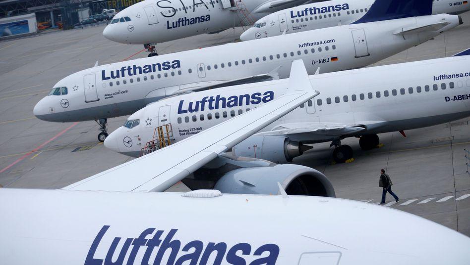 Lufthansa-Jets am Flughafen Frankfurt am Main