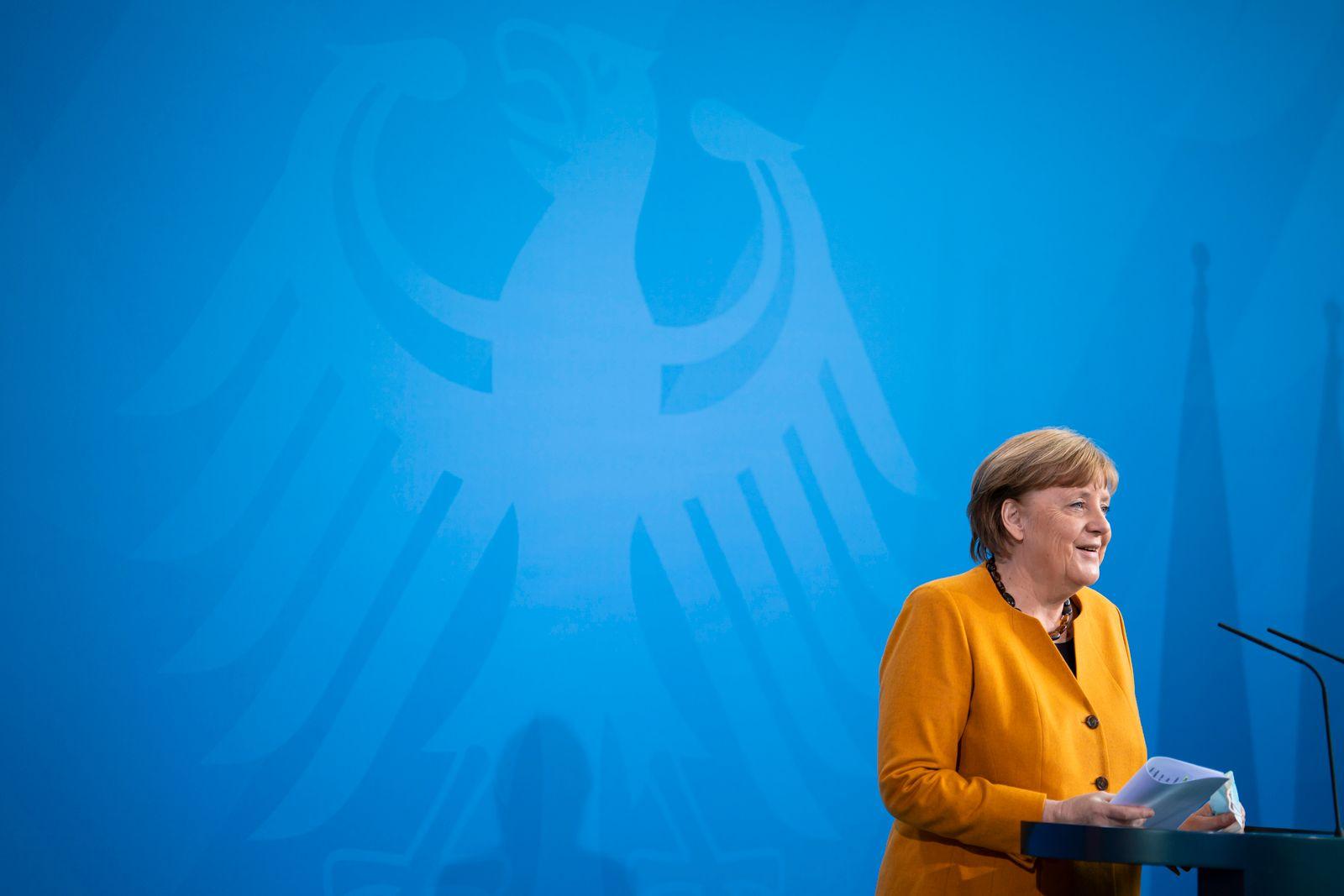 Merkel Gives Statement Following Reversal Of Easter Lockdown Decision