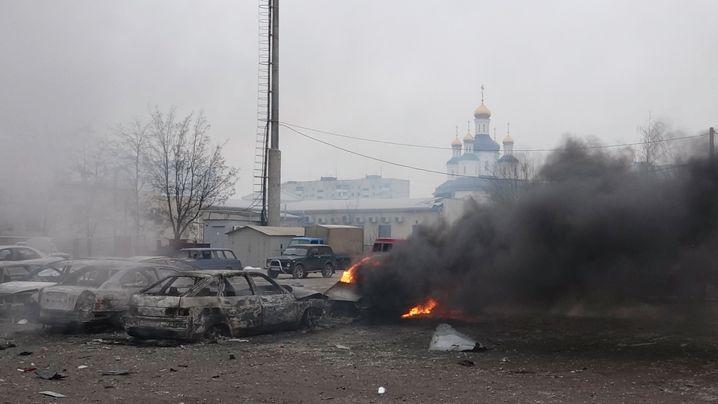 Südosten der Ukraine: Raketenangriff auf Mariupol