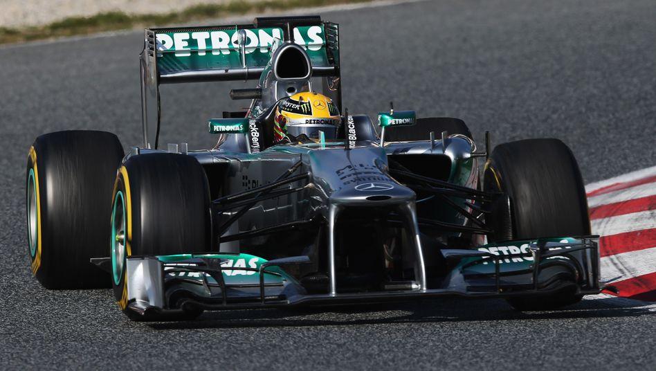 """Mercedes-Pilot Hamilton: """"Wir sind auf einem gutem Weg"""""""
