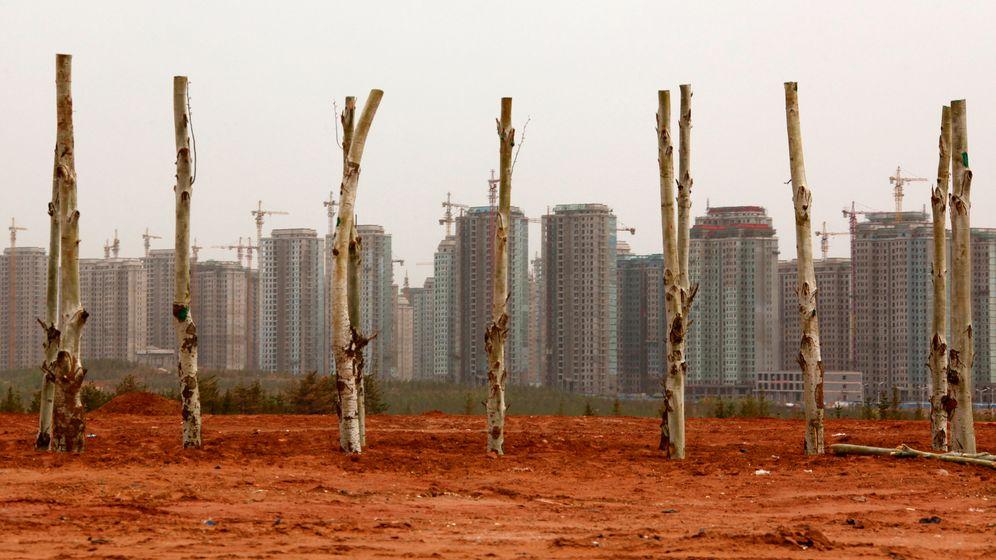 Geisterstadt New Ordos: Auf Sand gebaut