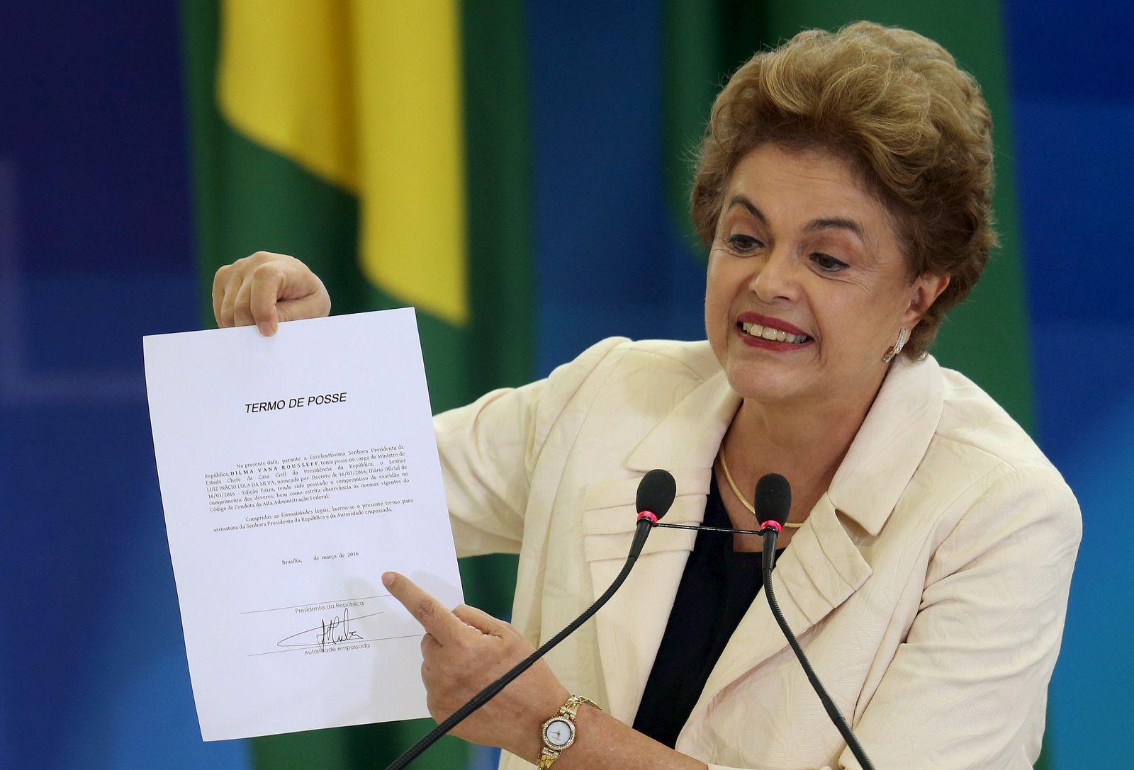 Dilma Rousseff Urkunde Lula