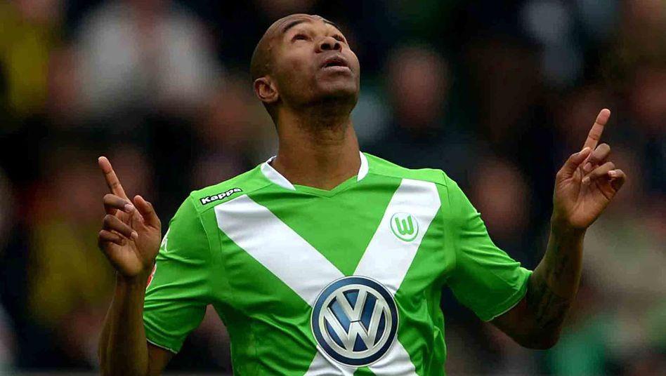 Wolfsburgs Naldo: Jubel über Treffer zum 2:1