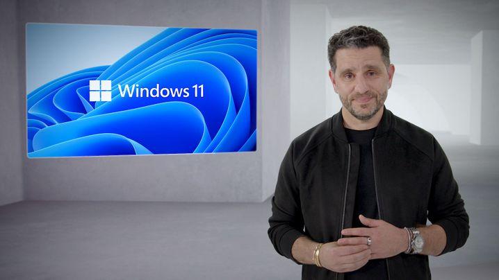 Kein Datum, keine Preisangaben: Microsoft-Manager Panos Panay während der Windows-11-Präsentation