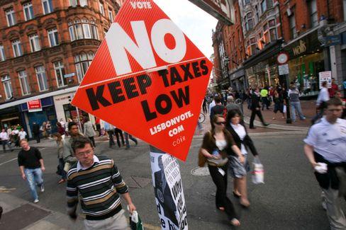 """EU-Gegner in Dublin: """"Sagt Nein zum Lissabon-Vertrag"""""""