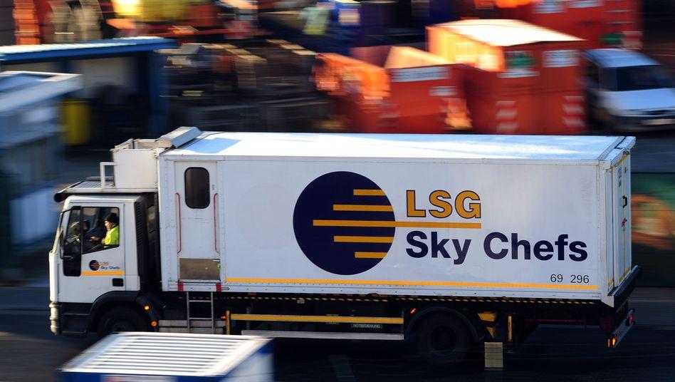 LSG-LKW am Frankfurter Flughafen