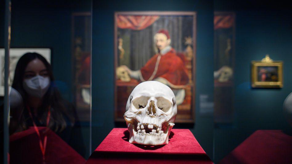 Kunstwerk von Bernini: Sieht aus wie ein echter Totenschädel, ist aber aus Marmor gefertigt