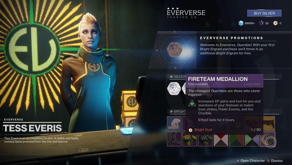 "Eververse-Shop in ""Destiny 2"""