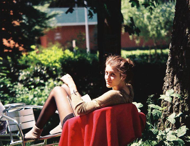 Franka Grella-Schmidt, 20, entspannte und lernte für sich und niemanden sonst