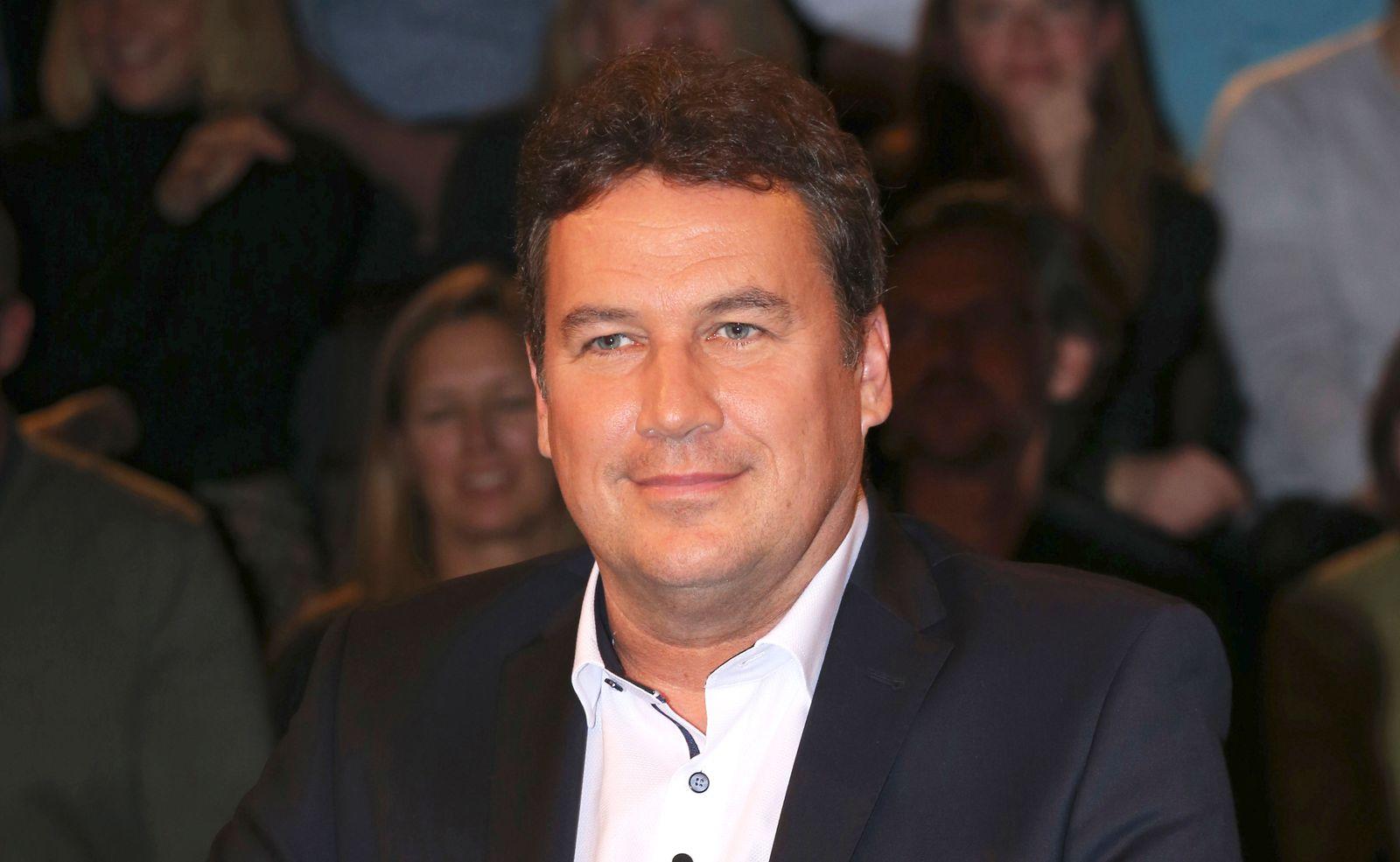 Christian von Stetten bei der Aufzeichnung der ZDF-Talkshow Markus Lanz im Fernsehmacher Studio auf dem Phoenixhof. Ham