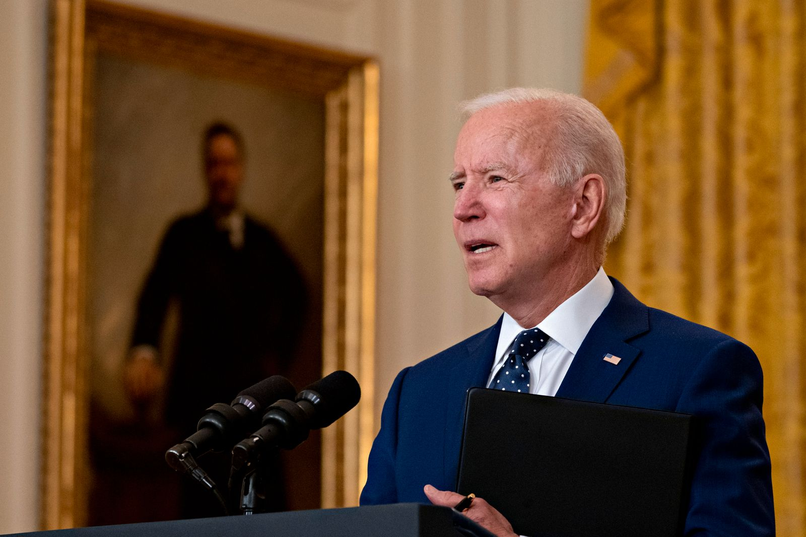 US President Biden Delivers Remarks On Russia