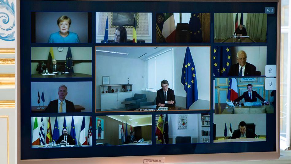 """Videogipfel der EU-Staats- und Regierungschefs, März 2020: """"Die deutschen Dogmen führen uns zur totalen Zerstörung"""""""