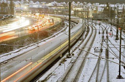Bahn-Streik: Nur auf den Straßen geht's voran