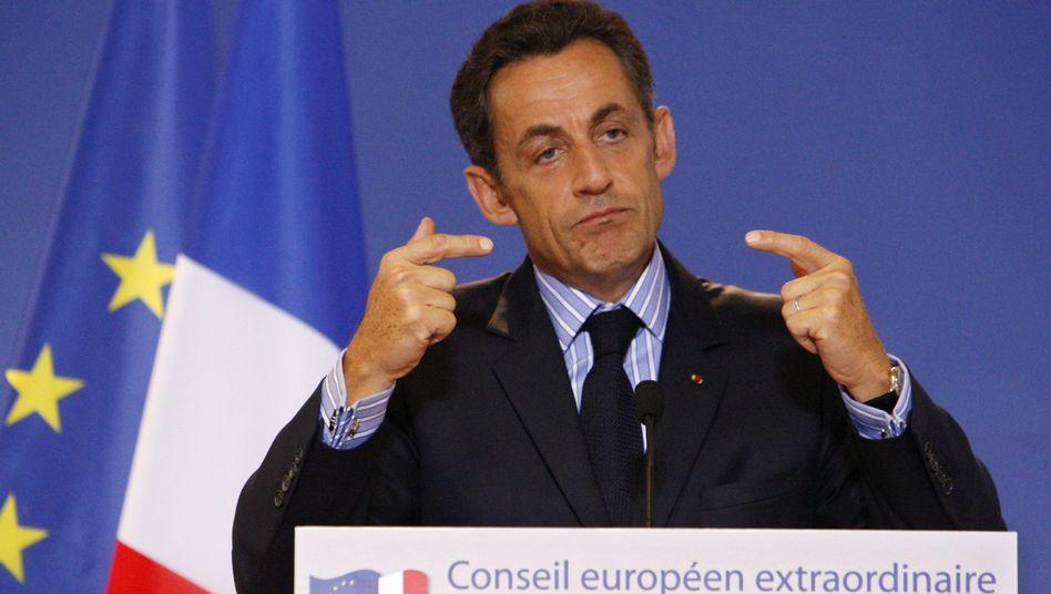 """Französischer Präsident Sarkozy: """"Wir brauchen Zuckerbrot und Peitsche"""""""