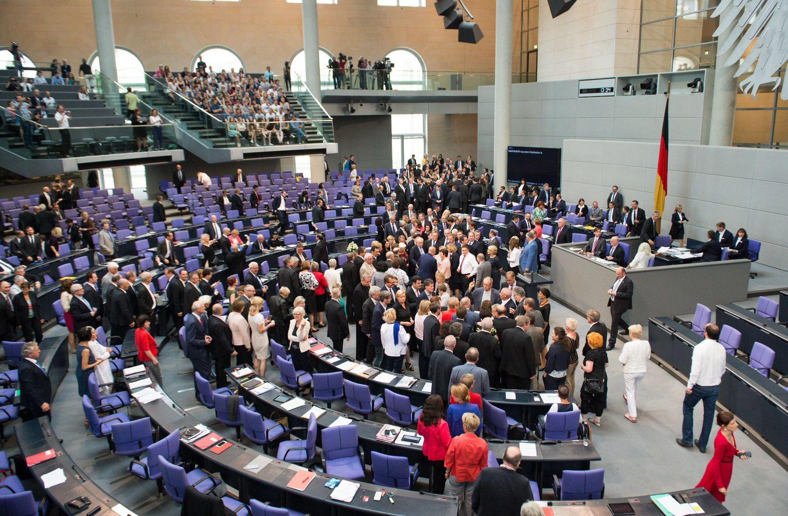 Bundestag / Abstimmung / Griechenland