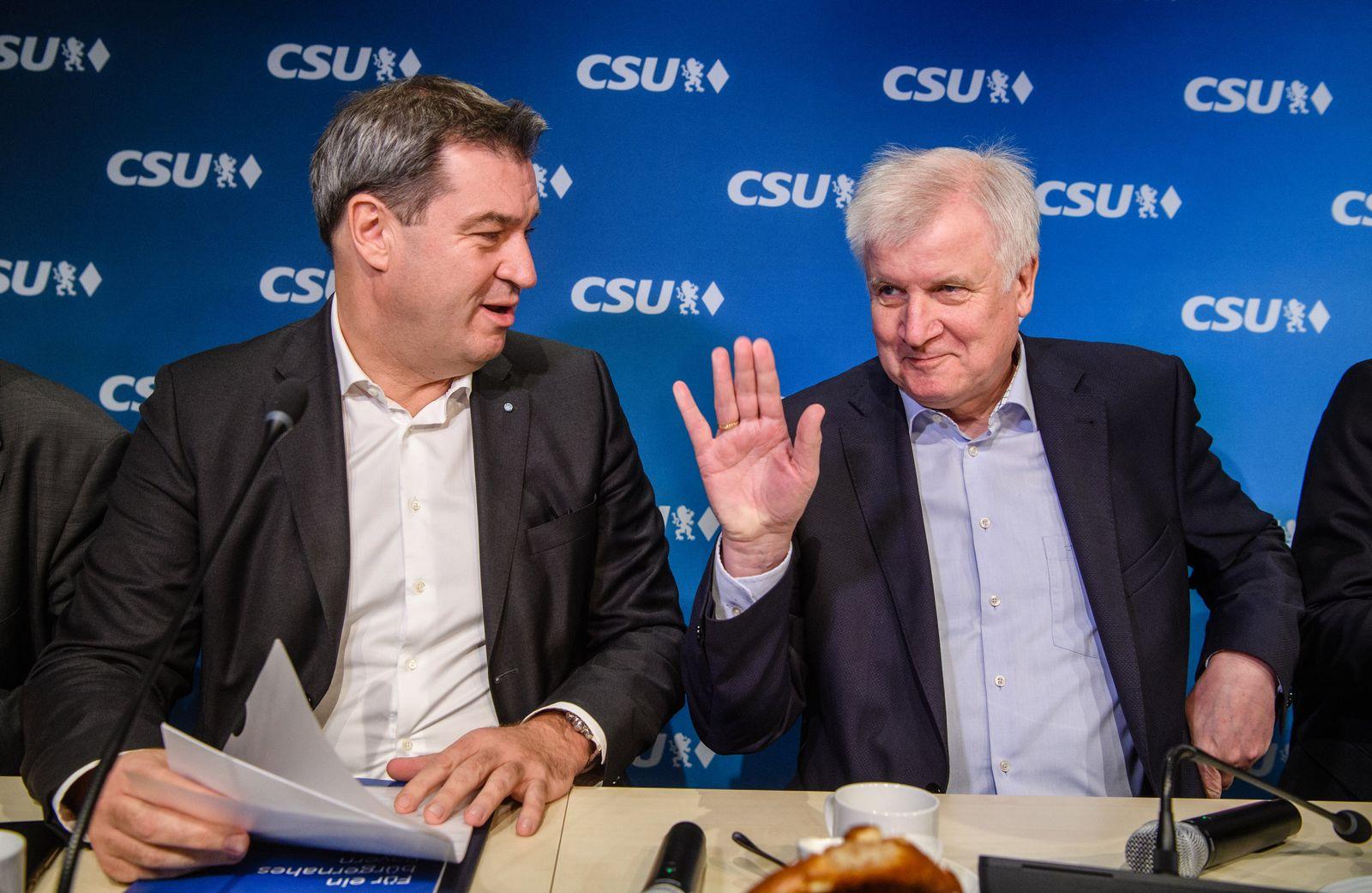 Koalitionsberatungen/ CSU/ Freie Wähler Bayern